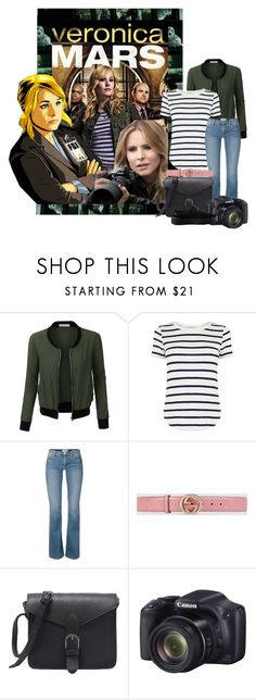 """""""Veronice Mars outfit"""" by laurablima-1 ❤ liked on Polyvore featuring DC Shoes, LE3NO, Oasis, Gucci and Puma"""