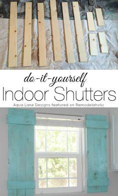 Tutorial - How to Build Indoor Shutters | Aqua Lane Designs on Remodelaholic.com