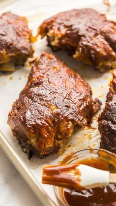 Slow Cooker Bbq Ribs, Best Slow Cooker, Slow Cooker Recipes, Crockpot Recipes, Barbecue Recipes, Barbecue Sauce, Bacon On The Grill, Homemade Hamburgers, Rib Recipes