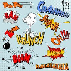 Free Crash, Boom, Bam and Bang Comic book explosions eps vector 03_Shapes_allfreebrush
