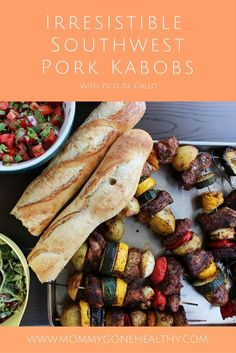 Simple, savory, and a little bit of heat! These irresistible Southwest pork kabob grilled skewers are perfect for hosting a backyard BBQ and are super easy to make as well. You can use whatever vegetables you have on hand (I love using seasonable veggies like zucchini, summer squash, tomatoes, when I can) and the seasoning can be kicked up a notch, if needed, depending on preferences. The acidic marinade yields an incredibly flavorful and tender pork tenderloin that is sure to please…