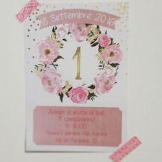 Invito per il primo compleanno di una stupenda principessa! 💕👑 #1stbirthday #princess