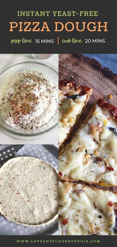 Planning to make Instant thin crust pizzas at home from scratch for your pizza night? Start with this quick no yeast pizza dough recipe with All purpose flour, Yogurt, Olive oil etc. Also Includes a recipe for pizza sauce with step by step instuctions to bake a perfect thin crust veg pizza!   Basic Homemade Pizza dough recipe   Simple & Easy pizza dough No Yeast Pizza Dough, Easy Pizza Dough, Thin Crust Pizza, Pizza Recipes, Baking Recipes, All Purpose Flour Recipes, Veg Pizza, Eggless Baking, Instant Yeast
