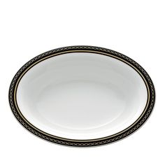 Vera Wang Wedgwood With Love Noir Oval Vegetable Bowl