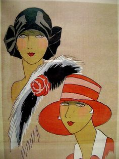 Image detail for -Large Art Deco Print Two Ladies Fashion Models. Vintage Beauty, Vintage Art, Art Nouveau, Art Deco Print, Portraits, Large Art, Art Deco Fashion, Art Google, Vintage Posters