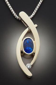 Jewelry OFF! Bullet Jewelry, Geek Jewelry, Fashion Jewelry Necklaces, Jewelry Design, Designer Jewelry, Sapphire Pendant, Diamond Pendant, Sapphire Earrings, Blue Sapphire