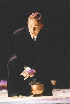 Tom Hiddleston in a performance of Electra in October 2001, which was performed entirely in Greek