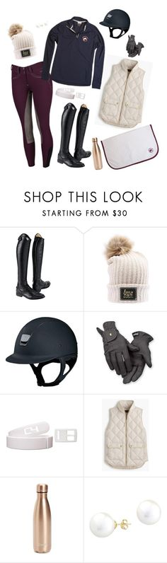 """Fall Lesson Day"" by equestrianprepcollection on Polyvore featuring Parlanti, Roeckl, J.Crew, S'well, A B Davis, rootd, equestrianfashion and equestrianprepcollection"