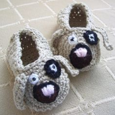 CROCHET PATTERN Puppy Love Baby Shoes  Pattern by hollanddesigns, $4.99