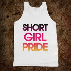 Short Girl Pride duh :) Branden says he always dreamed of marrying a tall, green eyed blonde. So, he gets 1 out of 3 things he wanted. I figure that's pretty true to life. Lol.