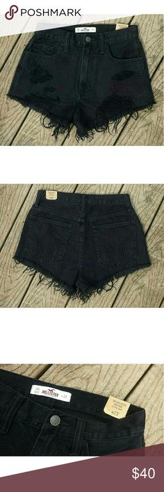 Hollister High Rise Shorts High Rise Festival Shorts New with all tags attached True black I love these so much, but they're too small  Feel free to ask any questions!  Don't be afraid to make an offer! Hollister Shorts Jean Shorts