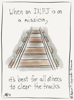 Clear the Tracks! INFJ Cartoon from http://infjoe.wordpress.com.