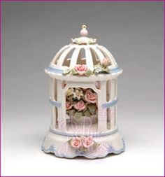 porcelain music boxes   FLOWER GAZEBO PORCELAIN SUBERTO MUSIC BOX :: Musicals, Boxes ...