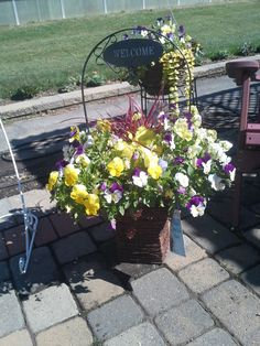 fall pansy planter Fall Planters, Pansies, Plants, Planters, Fall Window Boxes, Plant, Violets, Planting