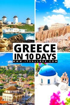 Greece Itinerary - The Perfect Itinerary For Athens Santorini And Mykonos - Plus things to do in each, where to eat and where to stay! #athens #greece #santorini #oia #fira #Mykonos #aegeansea #vacation #honeymoon #itsallbee  #packingtips | Athens Mykonos Santorini Itinerary | Athens Santorini Mykonos | Athens And Santorini Itinerary | Athens To Santorini ferry | Greece Travel Guide | Greece Itinerary 10 Days | Greece Itinerary 2 Weeks | Greece Itinerary One Week