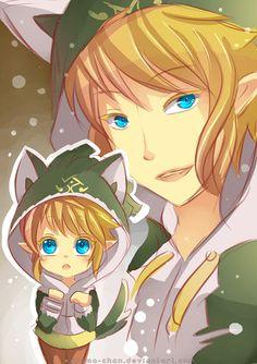 -- Speedpaint : Link with a wolf hoodie -- by Kurama-chan.deviantart.com on @deviantART