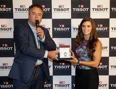 Presenting Danica with the Tissot PR 100 Chronometer Danica Patrick Limited Edition 2015, Reis-Nichols, 7/25/15, Indianapolis