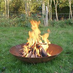 The corten steel fire pit is an attractive wood burner manufactured from corten steel