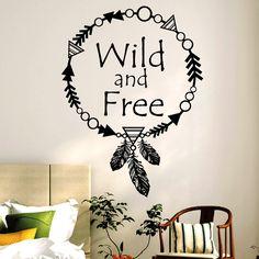 Deko für Dein Zuhause, Wandtattoo, Wandaufkleber, Hippie Schriftzug, Lebensmotto / home decor, wall tattoo, wall sticker, hippie lettering made by wandtattoo-loft via DaWanda.com
