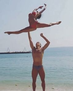 Squat Jumps Squat Jumps Leudona Krasniqi Active Comment if you and your partner will try this See more at slay nbsp hellip Poses Gimnásticas, Couples Yoga Poses, Acro Yoga Poses, Partner Yoga Poses, Dance Poses, Fitness Inspiration, Yoga Inspiration, Plyometric Workout, Plyometrics