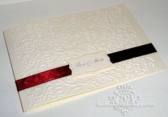 Elegant Wedding Invitation: Cream and Bordeaux by tmdesign - Cards and Paper Crafts at Splitcoaststampers