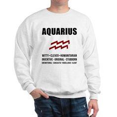 0dbbca90 Aquarius Zodiac Personality Sweatshirt on CafePress.com Fleece Hoodie, Crew  Neck Sweatshirt, Graphic