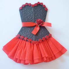 Sandy's Creations in Clay: Paper Dresses ~ Beautiful Greeting Card/Scrapbook Embellishments