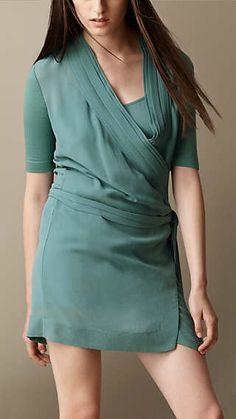 Burberry Brit Silk Georgette Wrap Dress