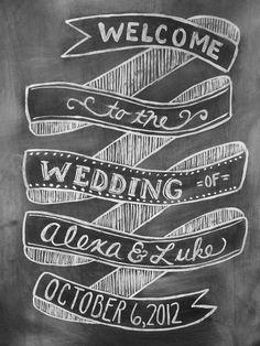 customizable wedding chalkboard