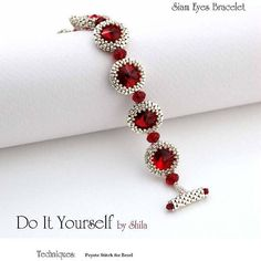 ***Following this Step-by-Step instructions you will be able to make your own bezeled Swarovski Rivoli (with covered back side) bracelet*** If you already bought this pattern before 20/10/2017, leave me an email address and I will send you the UPDATED pattern for free.... You will need for the bracelet: seed beads (15/0), delica beads (11/0), crystals bicone 3mm, crystals rondelle 8mm, and crystals rivoli 12mm. Technique: Peyote stitch, The tutorial is eight A4 pages wi...