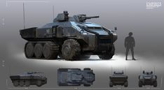 Pin by alex salas on robots, ships and mech-cetera in 2019 Star Wars Vehicles, Army Vehicles, Armored Vehicles, Sci Fi Weapons, Weapon Concept Art, Future Weapons, Futuristic Cars, Military Equipment, Special Forces