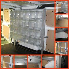 Os mostramos como colocar un almacén de piezas de repuesto en un vehículo industrial.  Utilizando nuestro perfiles de aluminio MiniTec lo conseguimos fácilmente.
