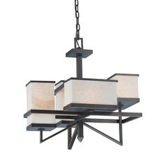 Nuvo Lighting 60-4394 4 Light Skyline Chandelier, Bali Bronze