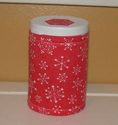 Coral SNOWFLAKE QUILTED  BOTTLE for meds candy gift by ISewYouReap, $3.50