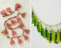 Up your holiday decor game with a DIY tassel garland.