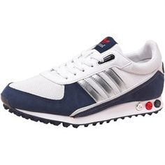 Buy adidas Originals Mens LA Trainer II Trainers White/Met Silver/Navy at MandMDirect.com