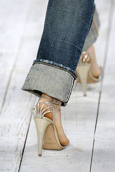 high heels and jeans-Ralph Lauren: love dressing up/dressing down my jeans.. my sister doesn't get it...