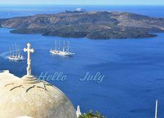Hello July.  Santorini , #Greece.  #Fotos #fotoklik  Aerial photography #Grecia