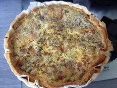 Quiche thon chèvre tomate - Recette de cuisine Marmiton : une recette