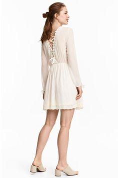 Sukienka z koronką - Naturalna biel - ONA | H&M PL 1