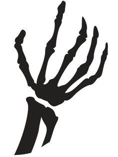 Skelton  hand pumpkin  stencil