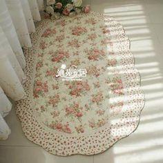 Shabby Country Chic Rose Door Bedside Mat/Floor Runner/Throw Rug/Carpet g style | eBay
