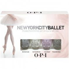 NYCB for OPI: The New York City Ballet collection by OPI features five en pointe pretty pastel shades and a sparkling silver glitter topcoat which will take your nails from sophisticated office-chic, to stylish evening-glamour in a hop, skip, and a jeté. China Glaze Nail Polish, Opi Nail Polish, Opi Nails, Manicure, Butter London Lippy, Butter London Nail Polish, Beauty Planet, London Nails, City Ballet