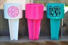 This listing is for (1) Beach Spiker. Personalized and super cute! I can do Monograms, sayings, etc - need to know what color! These are the ©spiker