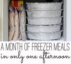 A month of freezer meals in one afternoon - without a deep freezer, in a small kitchen. Tons of tips & recipes, too!