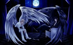 boy angel pics | All of my Angels - fantasy, angel, wings, moon, night, boy, anime ...