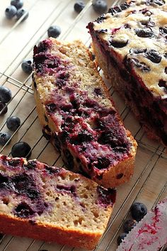 Healthy Blueberry Banana Bread