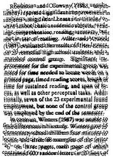 This is what I see. Some dyslexics may perceive text as distorted or jumbled.