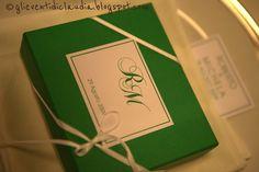 Gli eventi di Claudia confetti & co: Segnaposto......scatola personalizzata!!