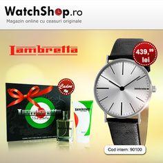 La fiecare ceas Lambretta cumparat, primesti cadou o lotiune, o apa de toaleta sau un set parfum si gel de dus. Ce mai astepti?  https://www.watchshop.ro/promotii/?campaign_id=513&catid=0&manid=0